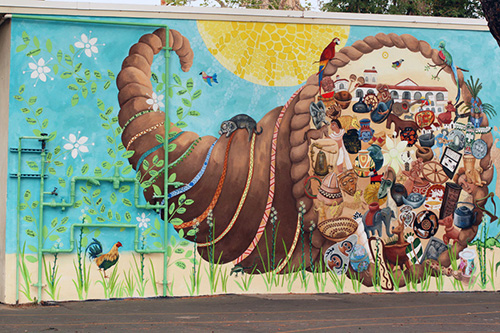 Heritage mural reseda elementary school ca by susan krieg for Elementary school mural